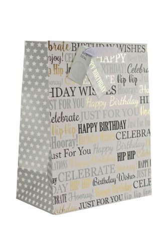 Gold Birthday M Bag